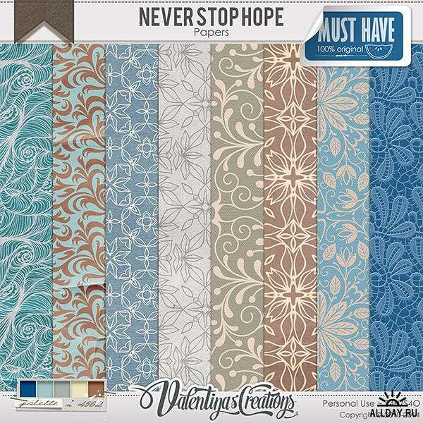 Scrap set - Never stop hope