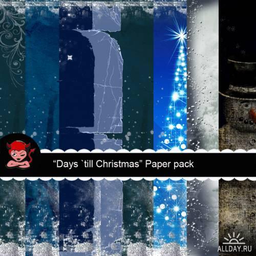 Скрап - набор - Days `till Christmas