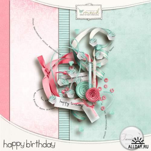 2 Мини скрап-набора: Shot Next Birthday & Happy Birthday
