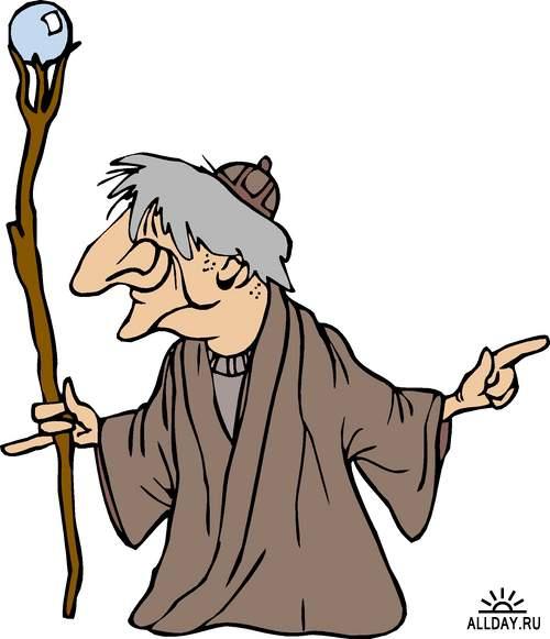 Герои средневековых сказок в векторе