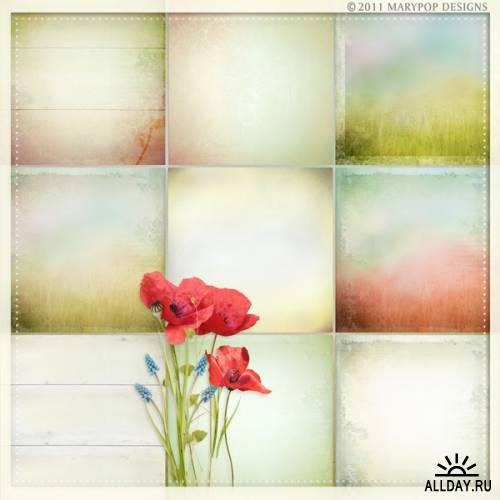 Скрап-набор Poppy Fields