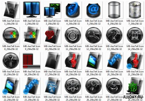 Super Aqua Icons pack