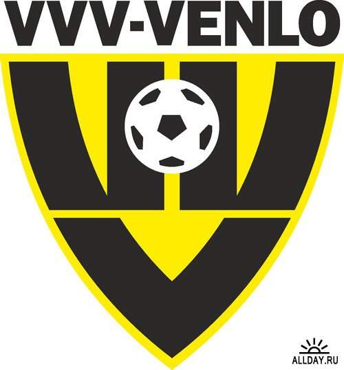 Логотипы и эмблемы футбольных команд Нидерландов (вектор)