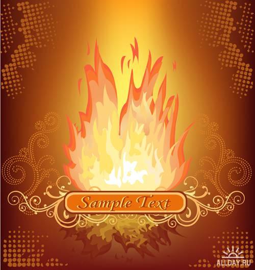 Огонь | Fire - Stock Vectors