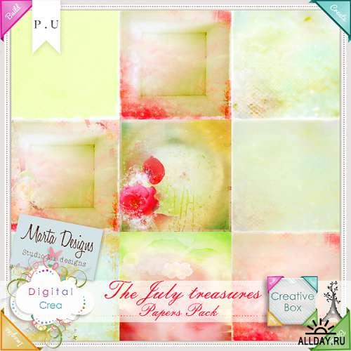 Scrap set - The July Treasures