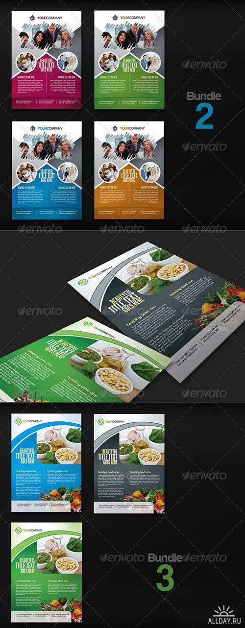 PSD - Multipurpose Commercial Flyer Bundle v.2