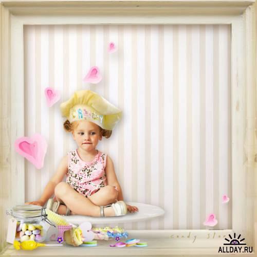 Детский скрап набор  - Candy store  ( Кондитерская)