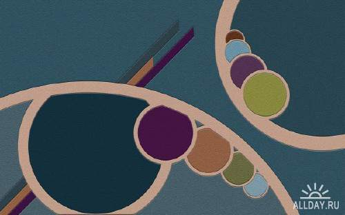Абстрактная графика для фона на рабочем столе 21