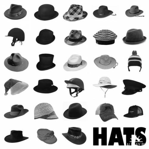 Кисти - Шляпки / Hats PS Brush set
