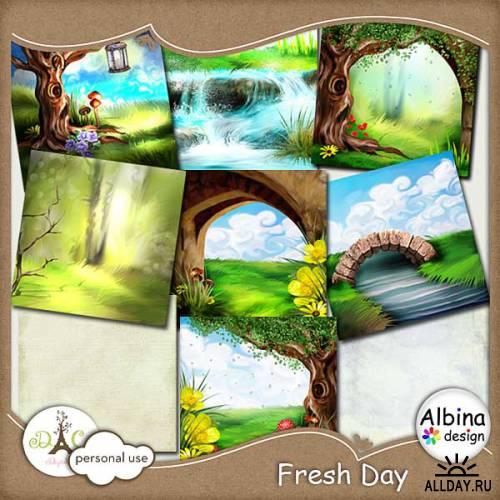 Скрап-набор - Fresh Day