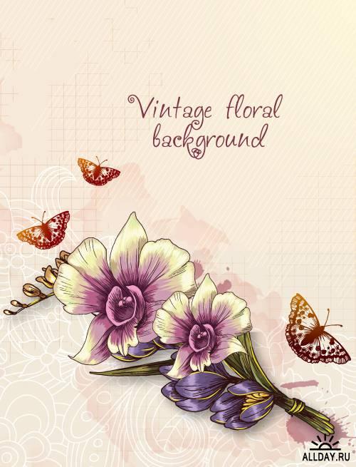 Vintage floral backgrounds