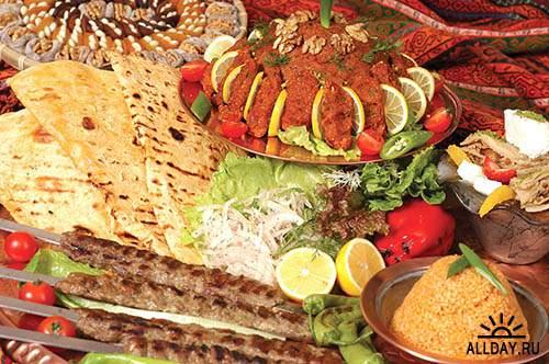Растровый клипарт - Турецкая еда