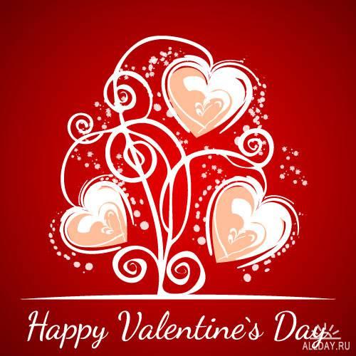 Design of decorative hearts set