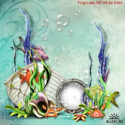Scrap kit   Frog Luau