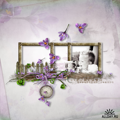 Скрап-набор «Весенний сад»