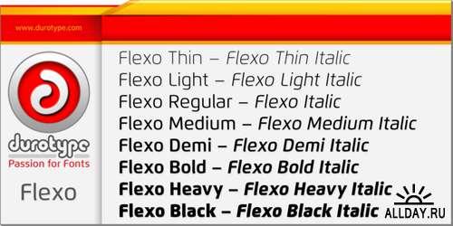 Flexo Font Family - 16 Font $800
