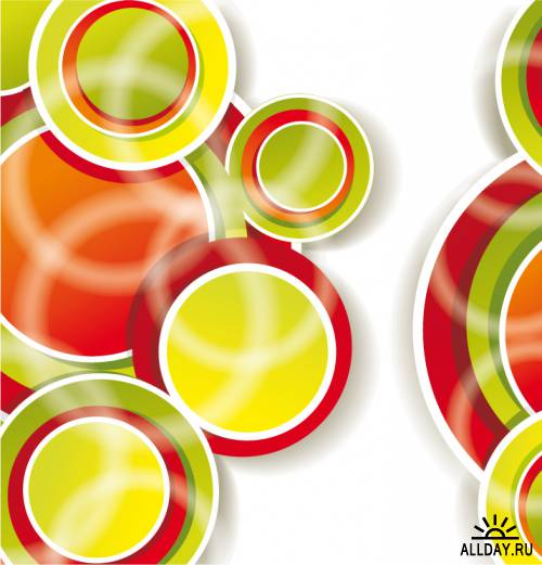 Background with color circles