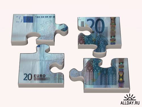 Banknotes and puzzle