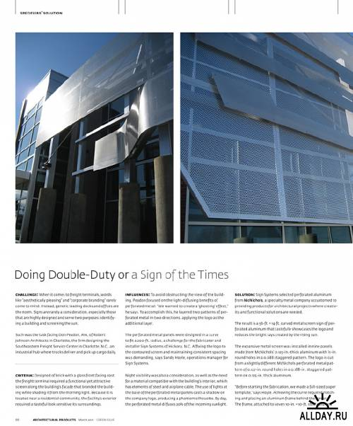 Architectural Products March 2011