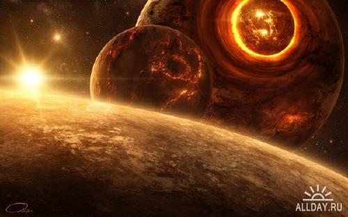 Огромные просторы вселенной на обоях для монитора (Часть 9)