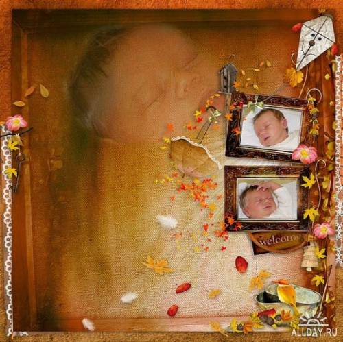 Scrap kit  Drizzly Fall