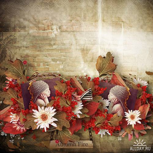 Скрап-набор - Autumn Fire