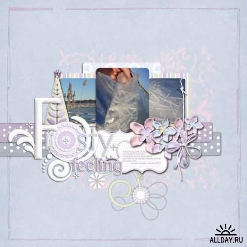 Скрап-набор - Frost Flowers