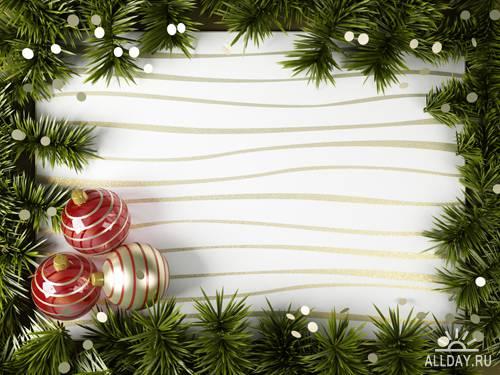 Новогодние рамки 5 | Xmas Frame 5 - UHQ Stock Photo