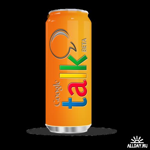 Beer Web buttons \ Пивные банки - исходник в PSD и PNG формате