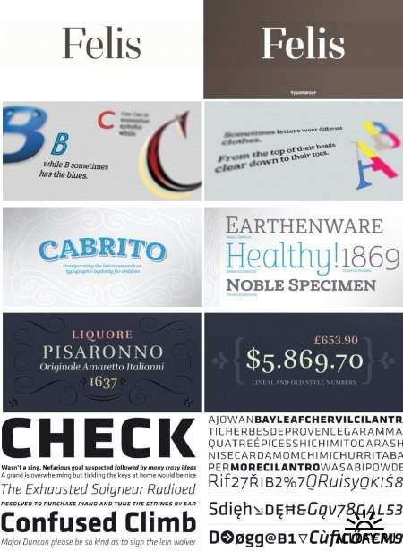Сборник красивых шрифтов / Fonts pack 03