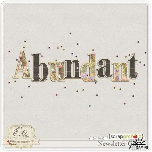 Скрап-набор Abundant - Все Хорошее