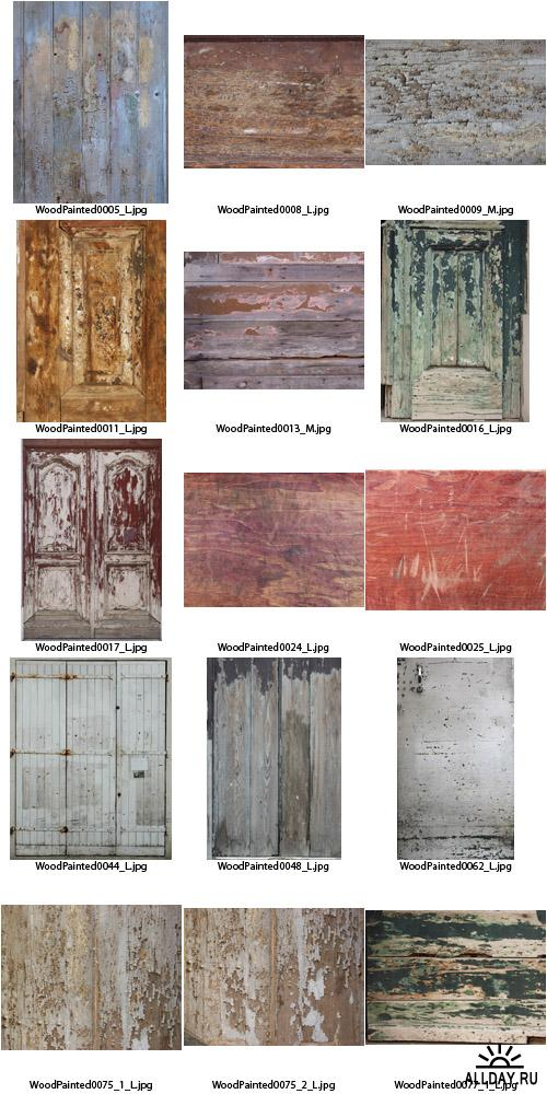 Текстуры - Wood Painted Textures #5