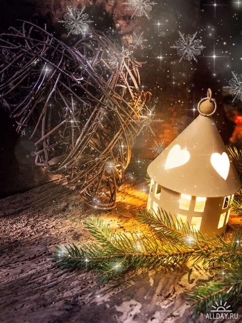 Новогодний фонарик - Растровый клипарт | Christmas lantern - UHQ Stock Photo