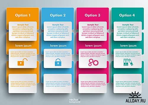 Инфографика для бизнеса, интернет - Векторный клипарт