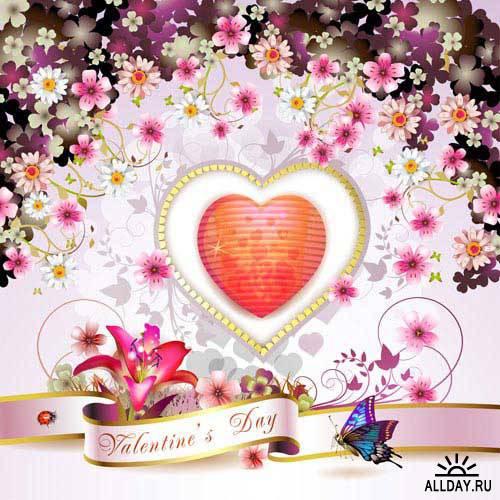 Открытка к дню Валентина. Вып.30   Valentine day card. Set.30