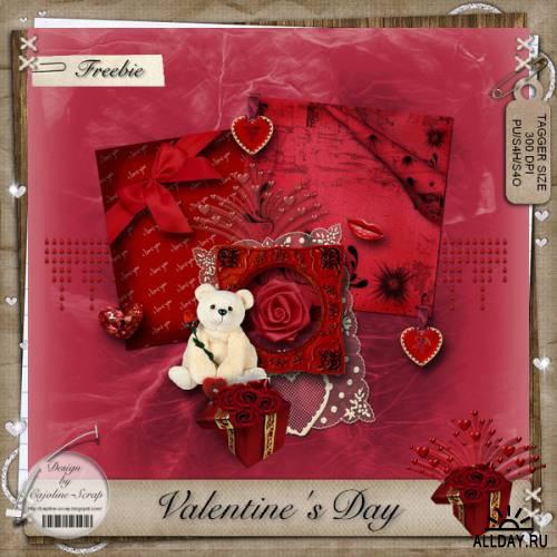 Мини скрап-наборы ко дню Святого Валентина