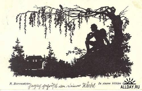 German postcard \ Немецкая открытка начала хх века