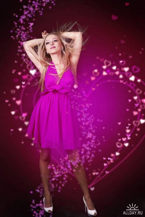 Фотосток: женщина и сердце