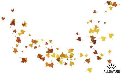 Осень - набор элементов для графических работ