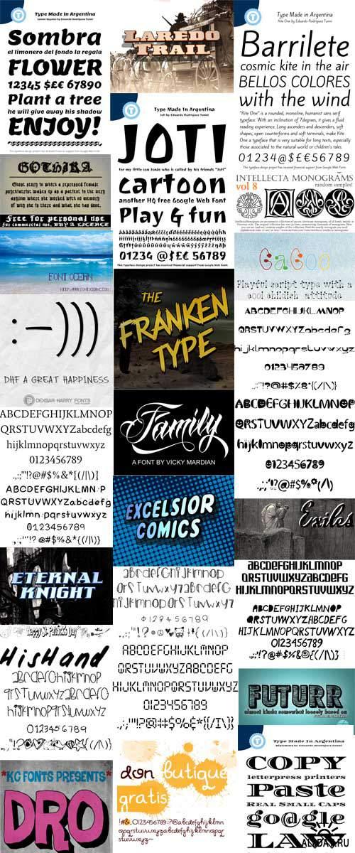 Window Fonts mix 2
