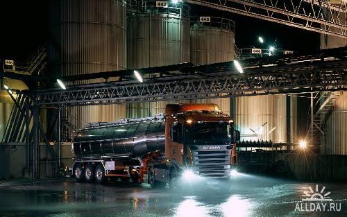 Широкоформатные Обои - грузовые автомобили