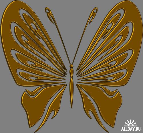 Gentle Butterflies Ажурная бабочка png