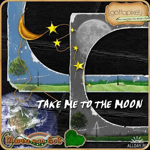 Cкрап-набор – Возьми меня на луну