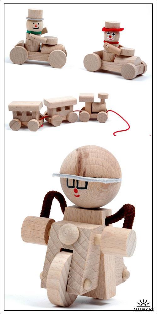 Фотоклипарт - Wooden toys