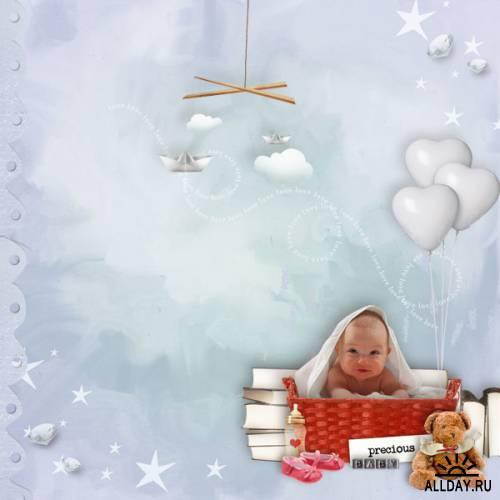 Скрап-набор  Baby born