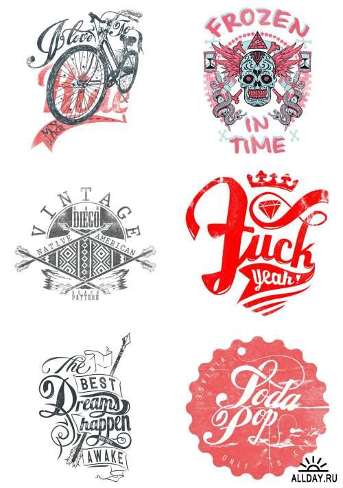 Дизайн футболок / T-Shirt Design 11 [EPS]
