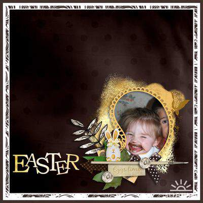 Скрап-набор Yellow Easter touch