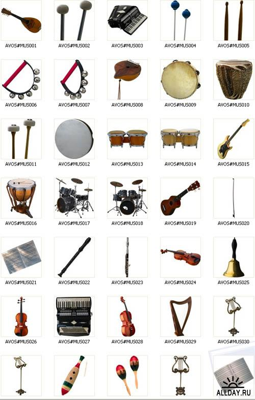 AV PO009 Musical Instruments | Музыкальные инструменты
