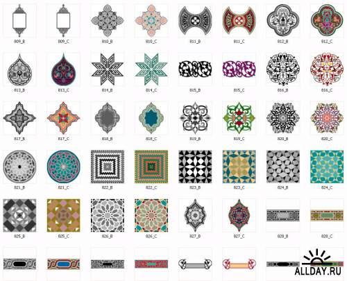 Aridi vector - Arabesque Borders and Ornaments