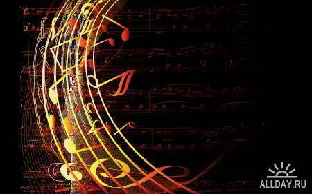 Лучшая подборка Обоев на рабочий стол: Colorful Vector Art Music